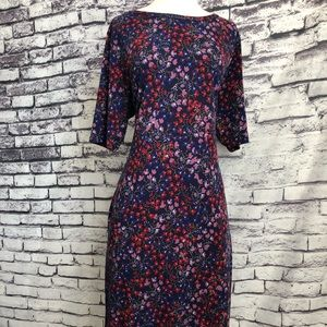 Lularoe Julia Purple Pink Red Floral Sheath Dress